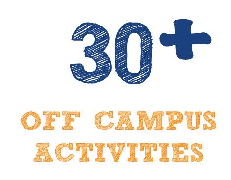 30+ Off Campus Activities